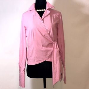 Jones New York 6P Pink wrap/collared shirt